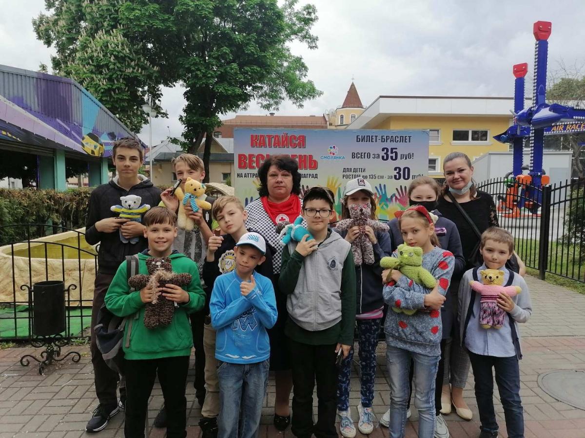 Ребята из домов семейного типа посетили Гомельский парк аттракционов